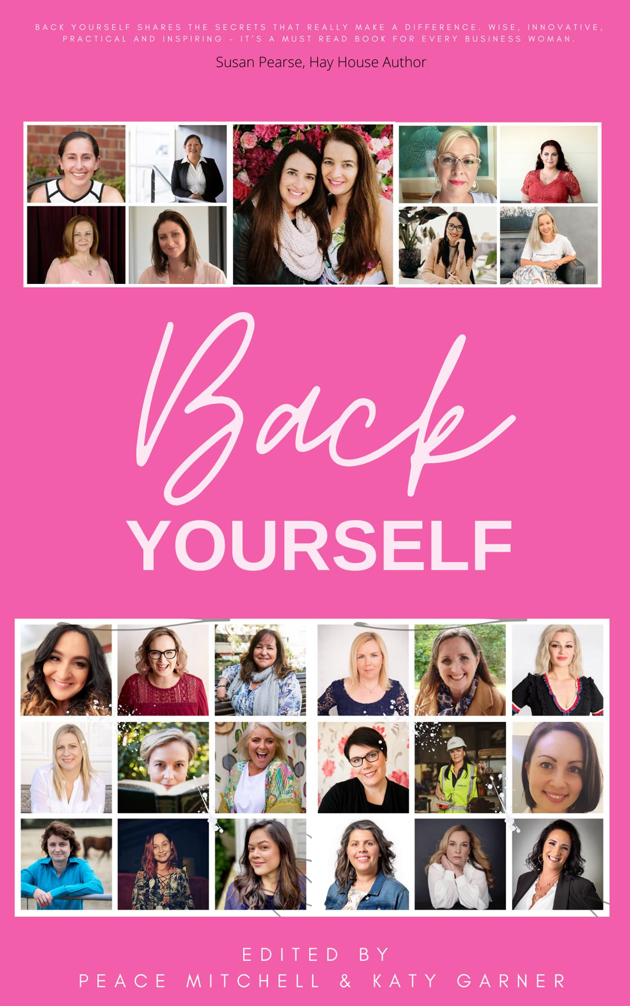This is the cover mockup for the book Back Yourself